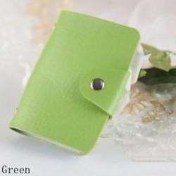 Zöld - 24Card Slots kétoldalas műanyag kártya tartó kis méretű üzleti hitelkártya táska