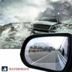2db autó esővédő tükörfólia köd ellen Vízálló védő 14,5x10cm