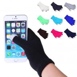 Érintős Kötött puha téli aktív unisex kesztyű okostelefonokhoz