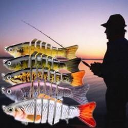 Top 7 szegmens Swimbait csalik Horgász csali Fish Lure Crankbait Hooks 11cm
