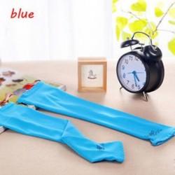 kék - 1Pair hűtő karú ujjak Cover UV napvédelem Kosárlabda Golf Athletic Sport