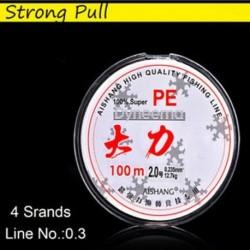 4 Strands - line No.0.3 - 100M erõs horgászzsínor Nylon átlátszó fluorozott szénhidrogén tartós horgászfelszerelés