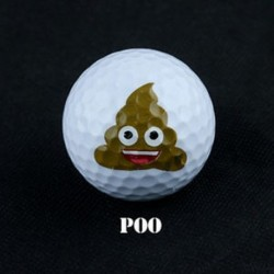 poo - 12 Stílus Super Kawaii Emoji Fun Golflabda Sárga Kültéri Sport Képzés Gyakorlat