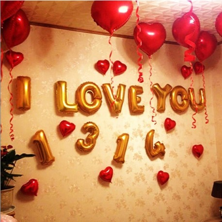 9c6a034c55 18 colos léggömb szív esküvői alumínium fólia lufi felfújható ajándék  születésnapi ballon 1db