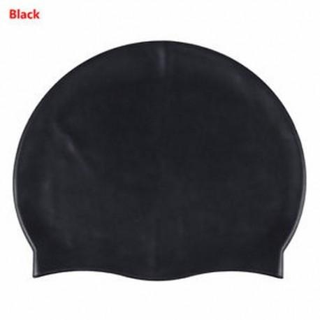 d9d09aea2470 Fekete - Vízálló, rugalmas szilikon úszósapka fülvédő úszó sapka fedél xx