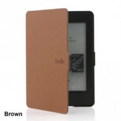 Barna - Divat mágneses ébresztő / alvó PU bőr tok borítás Amazon Kindle Paperwhite