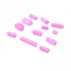 Rózsaszín - 13db / szett Színes szilikon porvédő porvédő dugó fedél laptophoz