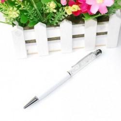 fehér - 2 in 1 Crystal író Stylus érintőképernyős toll IPhone IPad Samsung Tablet