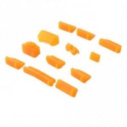 narancs - 26db Színes szilikon porvédő porvédő dugó fedél laptophoz
