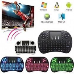 2.4GHz Mini háttérvilágítású vezeték nélküli érintőpad billentyűzet Air egér PC Android TV Box