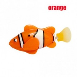 narancs - Divat úszás Robofish aktivált akkumulátor Powered Robo hal játék robot hal