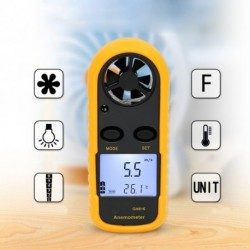 1x Kézi Digitális Anemométer Hőmérő GM816 Szélsebességmérő eszköz