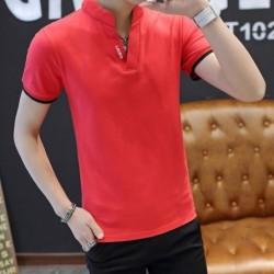 1x divatos férfi fiú kényelmes alkalmi hétköznapi nyári póló