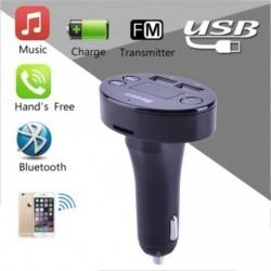 Bluetooth Vezeték nélküli FM adó MP3 lejátszó Kihangosító autóskészlet Két USB TF SD