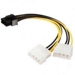 Kettős 4 tűs Molex IDE 8 tűs PCI Express tápkábelhez PCI-E adapter