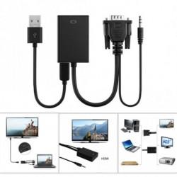 VGA Férfi HDMI kimenet 1080P HD   Audio TV AV HDTV videó kábel átalakító adapter