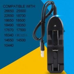 Egy Slot Li-ion akkumulátor AC töltő adapter 18650 18500 16340 14500 26650