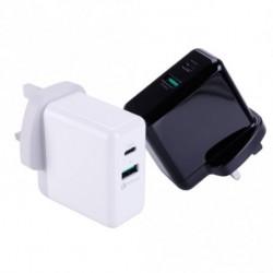 UK Plug PD gyors töltő iPhone 8 X Plus ipad pro Macbookhoz c típusú és USB kimeneti töltővel