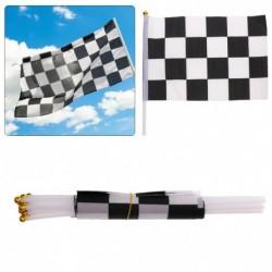 12db fekete fehér kockás Forma 1 F1 versenyző hullámzó zászló sport
