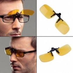 1x HD vezetési szemüvegek éjszakai látásmódosító flip-up PC objektív napszemüveg lencse
