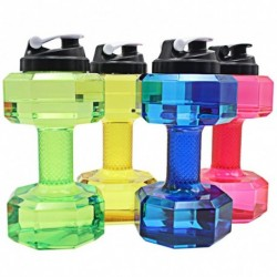 1x Víz palack súlyzó alakú nagy kapacitású vízpalack BPA szabad ivóvíz tartály edzőterem túrázás