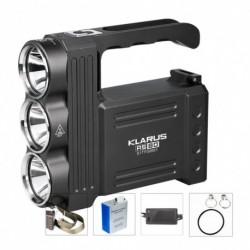 1x KLARUS RS80 zseblámpa Spotligh 3 * CREE XM-L2 (U2) 3450LM 3 lámpás újratölthető zseblámpa