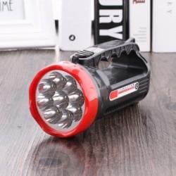 1x Super Bright újratölthető 1 vagy 9 LED kézi hordozható zseblámpa kültéri kemping utazás horgászat