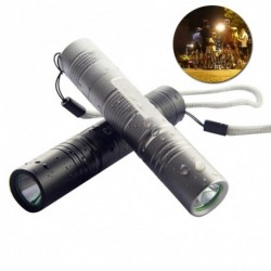 1x Fehér fény zseblámpa LED kültéri erős keresőfény kempingezéshez Éjszakai halászat