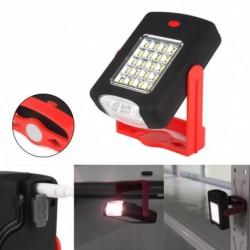 1x LED zseblámpa Mágneses fény újratölthető 360 fokos állvány lógó fáklya