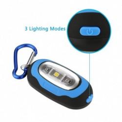 1x mágneses zseblámpa kis kulcstartó Super-Bright LED zseblámpa stroblámpa Carabinerrel