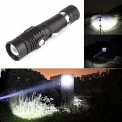 1x 6000LM XM-L T6 LED zseblámpa 3 módú zseblámpa USB újratölthető lámpa