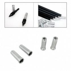 1x Belső átmérő 6,2 mm ezüst alumínium íjászat csere eszköz nyíl-tengely gyakorlatokhoz