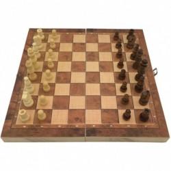1x Összecsukható sakk tábla Backgammon 3 az 1 készlet 24cm asztali szabadtéri játék
