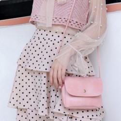 1x női lány divatos szolid táska válltáska kézitáska
