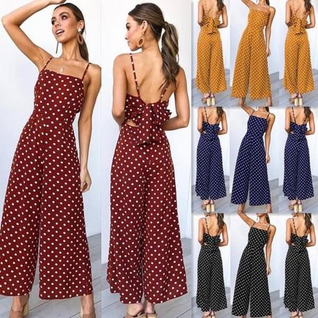98b2b8a64a 1x női nyári divatos laza ruha nadrágruha egyrészes