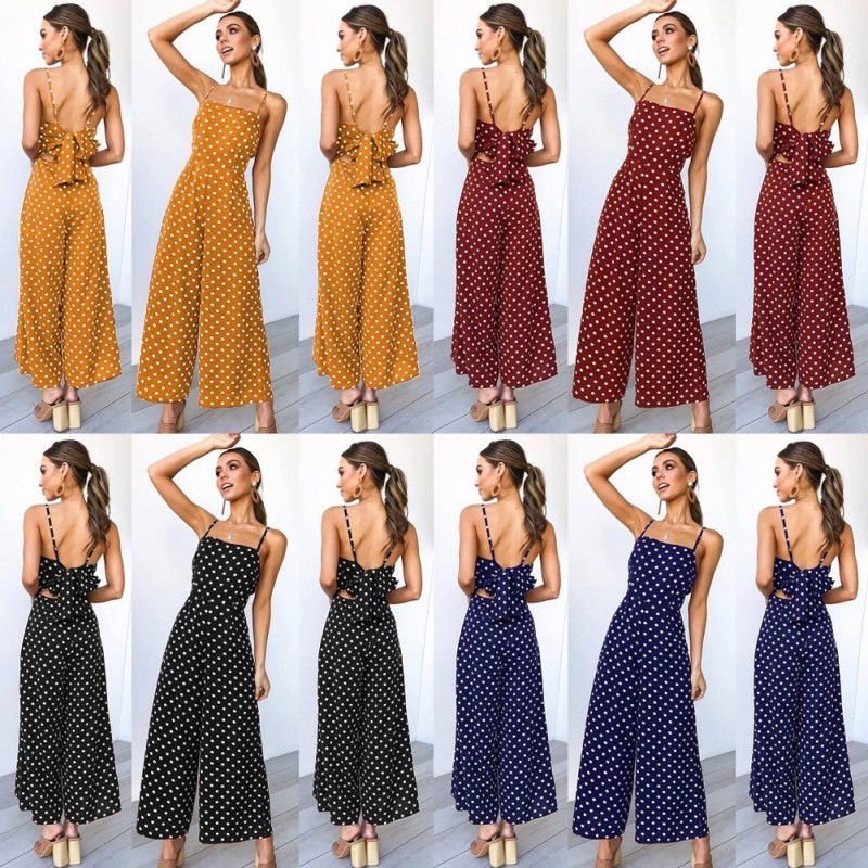 66ce0d68e4 1x női nyári divatos laza ruha nadrágruha egyrészes