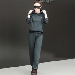 1x női divatos 2 részes laza ruha nadrágruha szabadidő szett