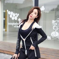 1x Női kapucnis futódzseki kapucnis profi jóga dzseki cipzáras felsőruházat kabát felső
