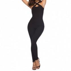 1x női egyrészes fekete ruha nyári divatos felső nadrág