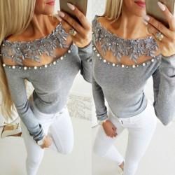 1db hosszú ujjú női nyári laza póló top felső