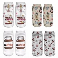 1pár nutella mintás zokni fehérnemű