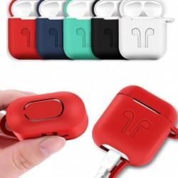 1x Apple AirPods tok védő szilikon fedél AirPod fülhallgató töltő bőr A