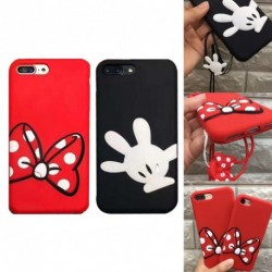 1x Minnie egér mintás telefon tok iPhone x Samsung Galaxy S6 Edge Plus S7 Edge S8 Plus