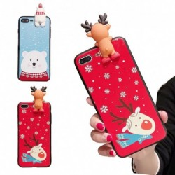 1x Téli rénszarvas télapó puha szilikon telefon tok iPhone XR XS XS MAX X 8 8plus 7 7plus 6 6s 6plus