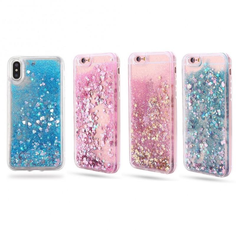 0935a26e9b 1x Folyékony töltetű ütésálló puha TPU szilikon tok iPhone 6 7 8 X Plus  Samsung Galaxy ...