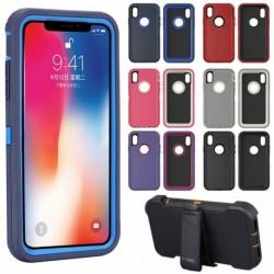 1x Apple iPhone X / XS Max 10 tok védő védő ütésálló hibrid tok