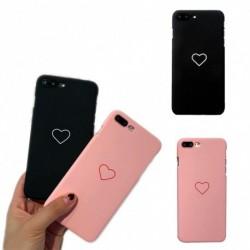 1x szerelem szív festett telefon tok iphone x / 6/7/8 Plus