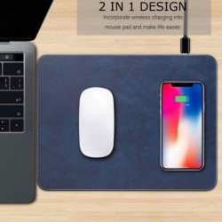 1x Vezeték nélküli gyors töltő egérpad QI töltő iPhone X 8 Samsung S9 S8 S6