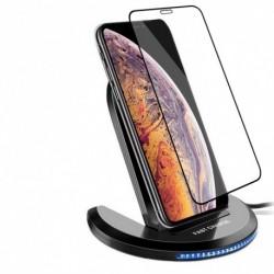 1x Samsung Galaxy S10 / S9 Plus vezeték nélküli Qi gyors töltő töltőállvány Dock Pad 7.5W
