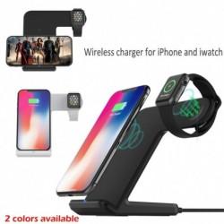 1x Qi vezeték nélküli gyors töltő dokkoló állomás 2 az 1 Apple Watch iPhone Xs MAX 8